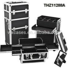 as caixas cosméticas profissionais do trole podem ser divididas em 2 partes-caso cosmético e o trole cosmético