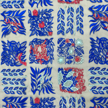 Kinds Of Grid Pattern Embroidery On Nylon Mesh