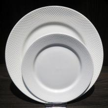 Embossed Porcelainware Dinnerware Dish Set
