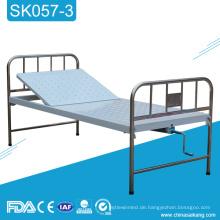 SK057-3 Medizinisches Krankenhaus-Edelstahl-einzelnes Kurbel-manuelles Bett