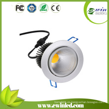 Epistar COB 90mm Cutout 10W Bathroom luces LED Down