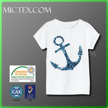 sweet wholesale short sleeve anchor t-shirt OEM OEKO-TEX
