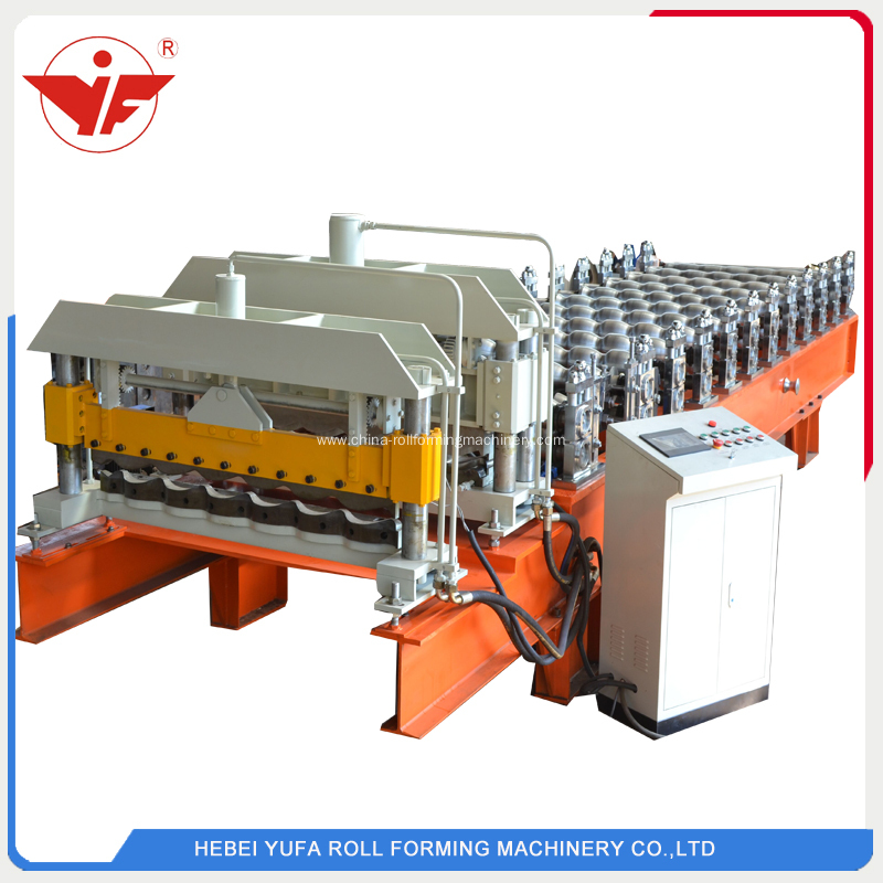 Aluminum roofing step tile roll forming machine