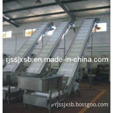 High Climbing Leather Net Belt Conveyor for Food