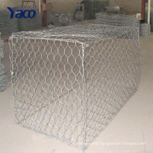 Galvanized/PVC coated hexagonal wire netting/gabion box/stone cage