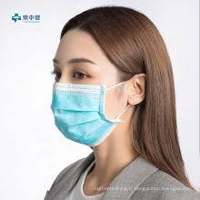 Masque chirurgical médical jetable à 3 couches en tissu non tissé