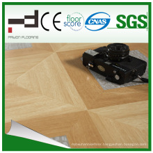 Middle Embossment Parquet Home Decoration V Buckle Laminated Flooring