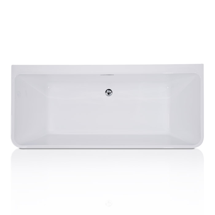 Arrington Acrylic Freestanding Tub Against the Wall