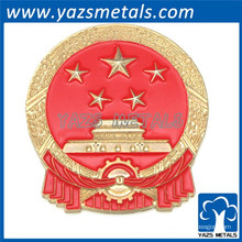plaqué métal métal logo poteau étiquette artisanat métallique