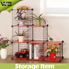 Gardern Wire Frame Metal Sheet Mix-Assemble Portable Iron Shelf for Plants