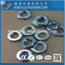 Made in Taiwan DIN439 Carbon Steel C1008 Zinc Plated Cr6+ 5um Min Head Marking T1 O4 B Hex Thin Nut