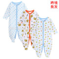 wholesale long sleeve baby romper 2017 latested design fall winter 3pcs carptoon printed baby boy jumpsuit