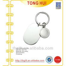 Custom blank logo metal keyrings w/Gof ball coin plate