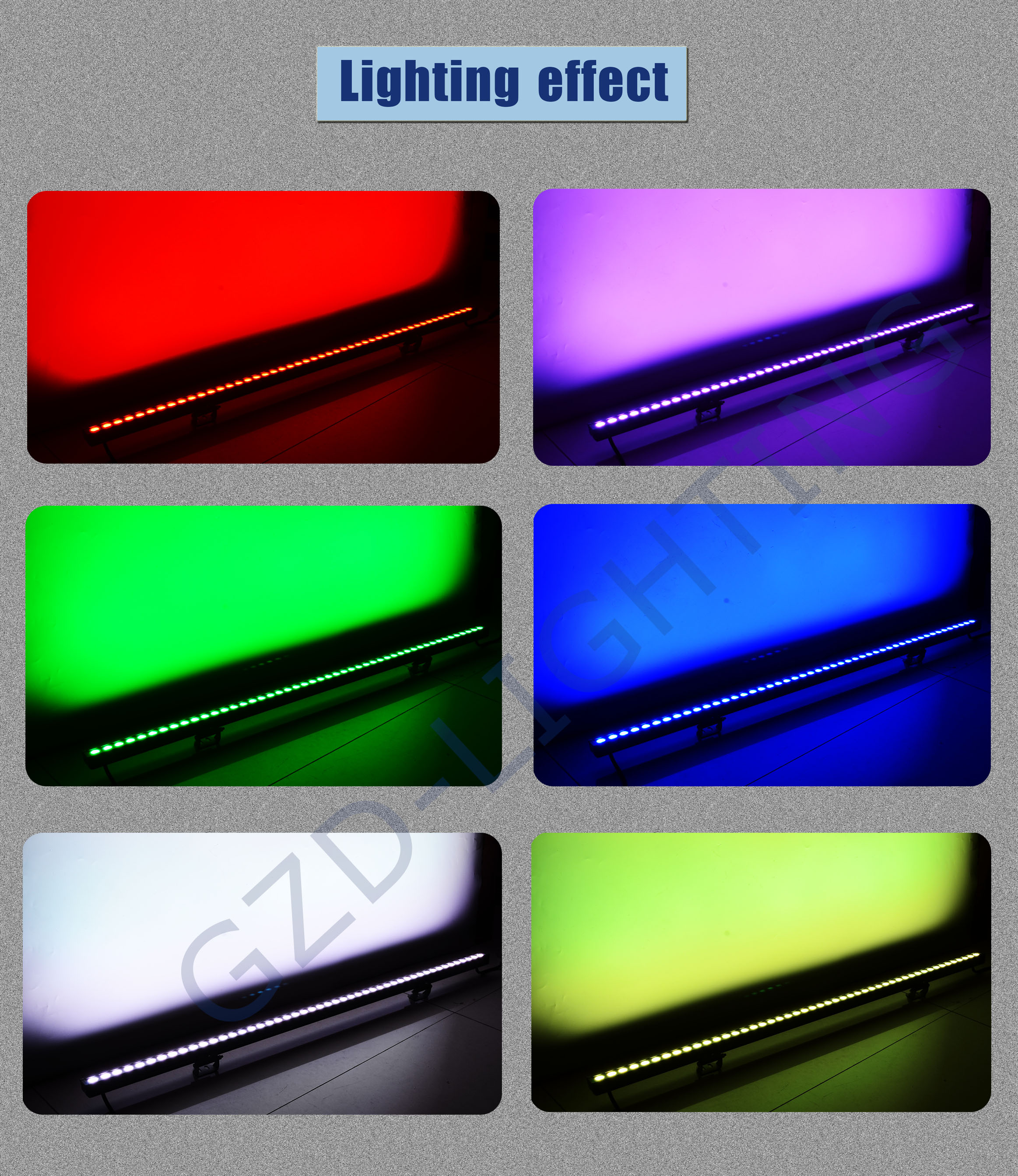 led linear light lighting effect