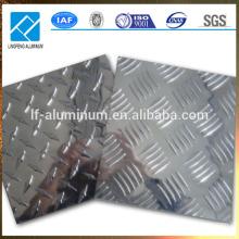 Placa de aluminio de control, placa de metal antideslizante de aluminio