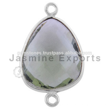 Atacado Gemstone Connectors 925 Sterling Silver bezel gemstone links
