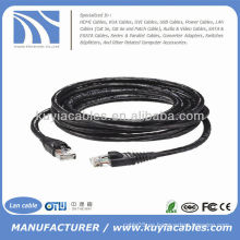 Cable impermeable al aire libre del LAN del Internet del utp Cat6 de 30FT