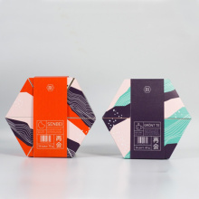 New Design Hexagon Biscuits Packing Box Food Packaging
