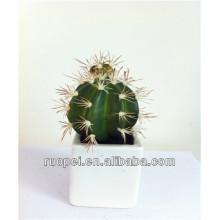 Planta de cactus artificial en maceta para decoración de interiores