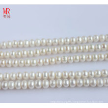 9-10mm AAA Freshwater Pearl Strand, Button Round (ES121)