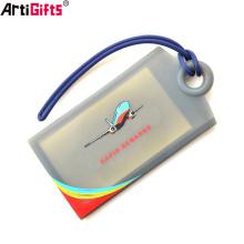 Etiqueta de equipaje de plástico personalizada de nuevo producto para accesorios de bolsa