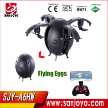 2017 New Arrival A6HW Selfie Drone With Wifi FPV 0.3/2.0MP Camera Mini DroneRC Quadcopter With Controller Toys Flying Egg Ball