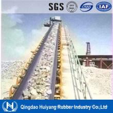 Minería utilizando banda transportadora de caucho resistente a productos químicos