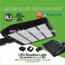 2016 Hottest LED Parking Lots Lamp 400w, Outdoor LED Shoebox Light, DLC LED Shoebox Fixture
