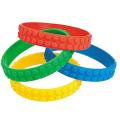Nuevo bloque de construcción coloridas pulseras de goma elásticas