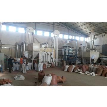 planta de máquina de processamento de limpeza de gergelim