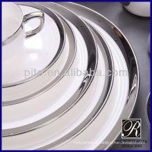 Vaisselle en porcelaine PITO argent blanc