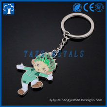 custom Enamel keychain made of zinc alloy for sale