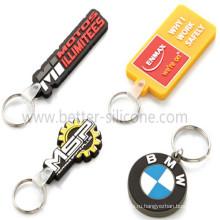 Промотирование выполненных на заказ ключей силиконовой резины Keychains