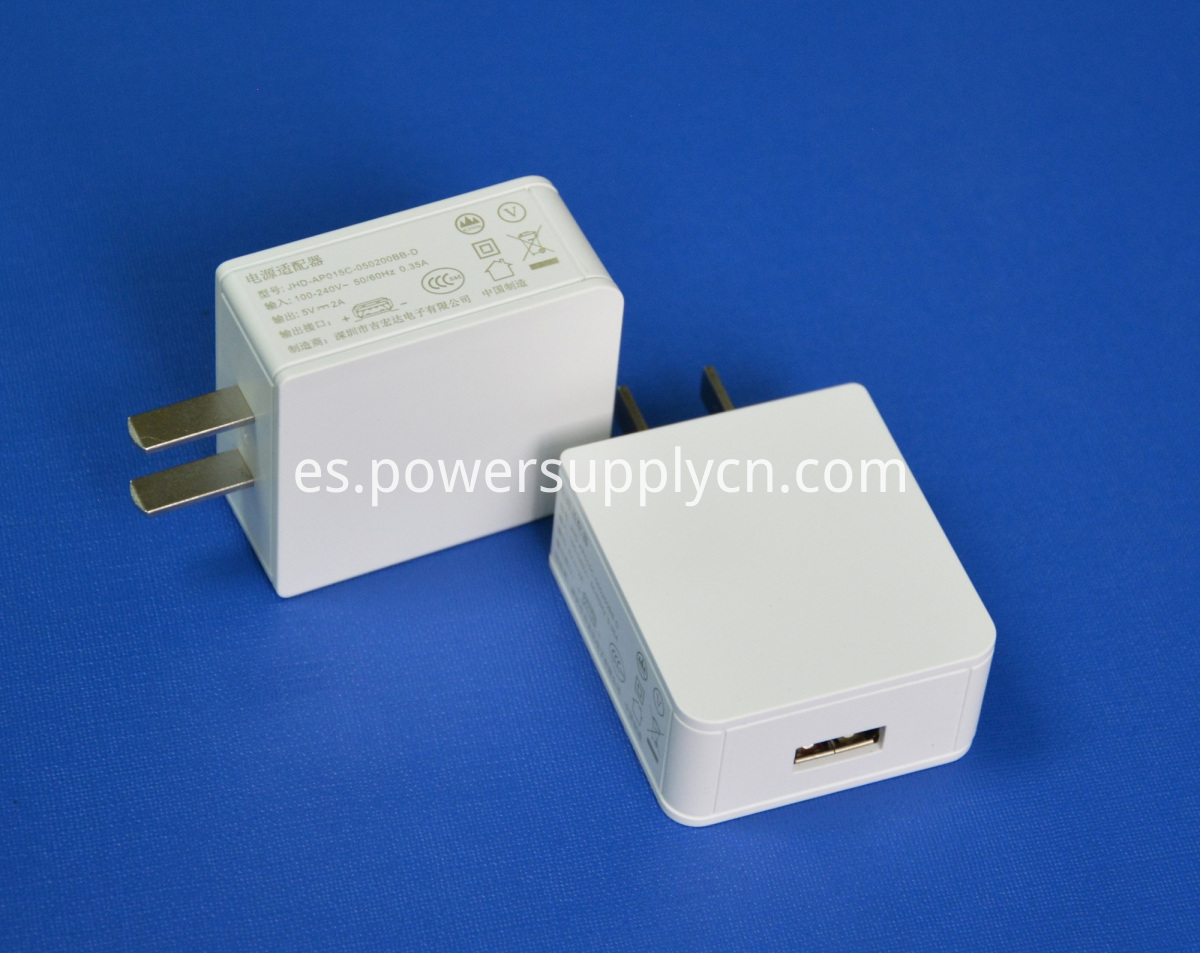 5V3A single USB phone charger US plug