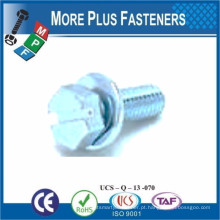 SEMS DIN 6901 PARAFUSO COM TUBO PLANO ASSBMBLIES SLOT INDENT HEX HEAD SHARP POINT TAPPING SCREW