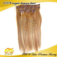 New arrvial human hair clip in hair pieces for thinning hair