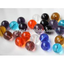 Perlas de vidrio materia prima perlas de vidrio redondo