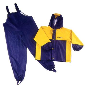 Yj-6089 Waterproof Bibs Rain Pants Kids Rain Jackets Coats Suit