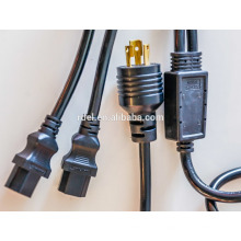 Câble de rallonge de câble d'extension de cordon d'alimentation pour serveurs et ordinateurs 20A, 12AWG (2x IEC-320-C19 à IEC-320-C20)