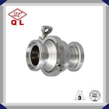 Válvula de retención sanitaria de instalación rápida de acero inoxidable