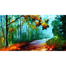 Peinture à l'huile de paysage de couteau sur toile
