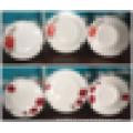 18pcs design personalizado quadrado jantar porcelana conjunto