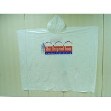 Poncho jetable de manteau de pluie jetable adapté aux besoins du client d'impression