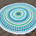 2017 cheap mandala design with tassels sublimation print Round Beach Towel RBT-057