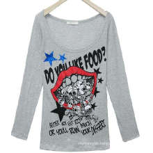 Fashion Screen Printed Custom Girl′s Long Sleeve T Shirt