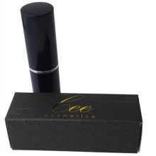 Zwarte UV/Gold stempelen Lipstick Coated Paper Box