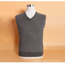 Bn505 Yak Wool/Cashmere V Neck Pullover Long Sleeve Sweater/Clothing/Knitwear/Garment