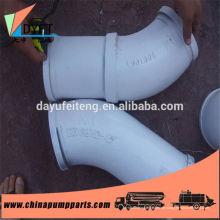 DN125 Betonpumpe Ersatzteile Keramik ausgekleidet verschleißfest Rohrbogen