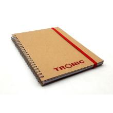 Cuaderno de papel en espiral de alta calidad Kraft