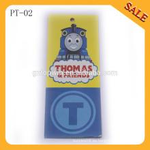 PT02 Logo con etiquetas en relieve, etiquetas de precio de papel para la ropa